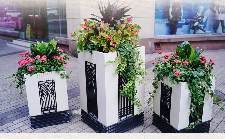 經典PVC組合花箱