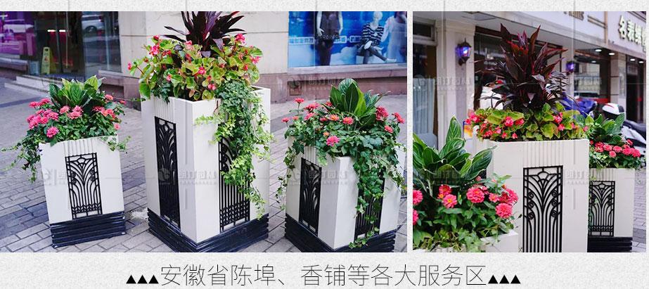 安徽陳埠香鋪服務區景觀綠化花箱