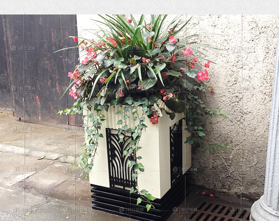 方形雕花藝術花箱使用效果圖