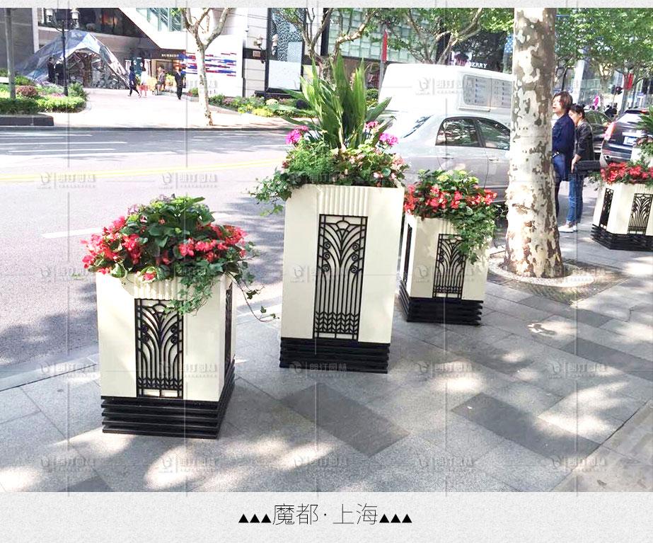 上海市政道路景觀提升花箱