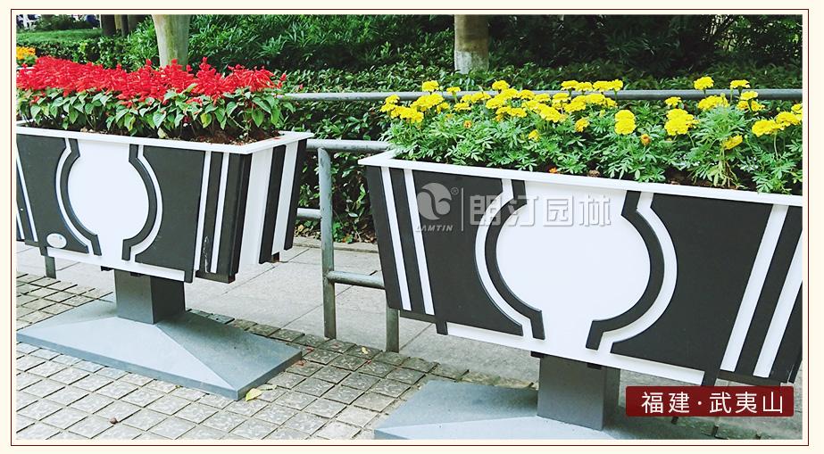 天籟藝術花箱公園廣場景觀綠化案例