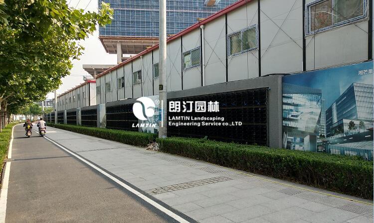 上海徐汇滨江植物墙迎接智能峰会
